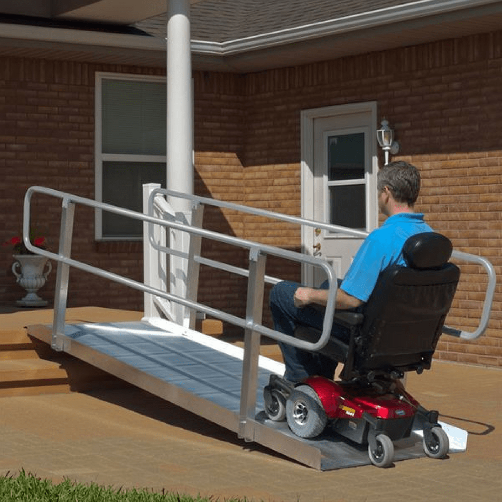 PVI OnTrac Wheelchair Access Ramp with Handrails, 385kg Capacity - PVI - Ramp Champ