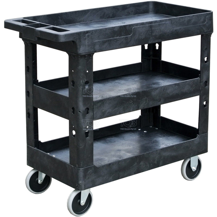 TradeQuip Professional Plastic Workshop Trolley 3 Tool Trays - TradeQuip - Ramp Champ