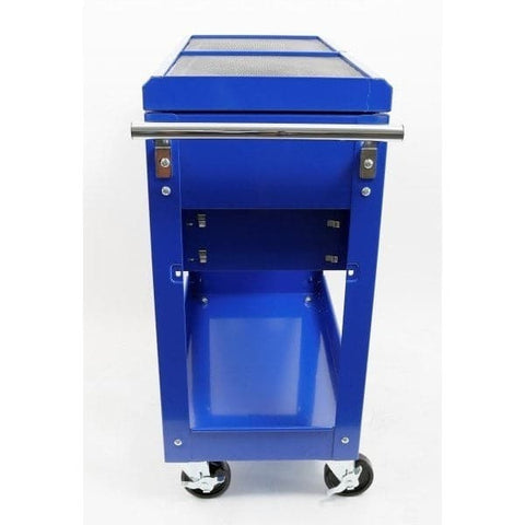 Red Label Economy Workshop Tool Trolley 2 Drawer Lockable Sliding Top
