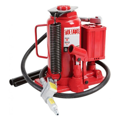 Red Label Economy Bottle Jack Air/Manual Hydraulic, 20,000kg