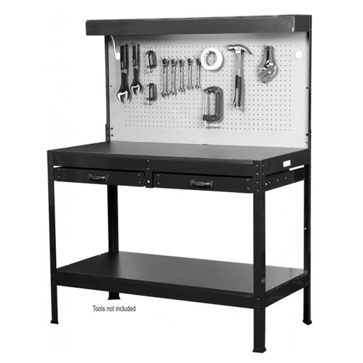 Red Label Economy Light Duty Work Bench with Peg Board & Drawers - Red Label Economy - Ramp Champ