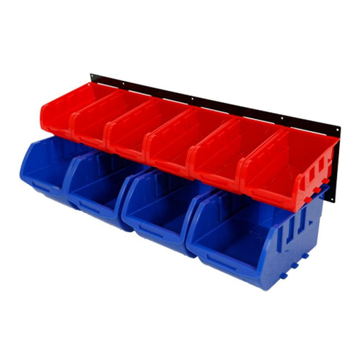 Red Label Economy Parts Storage Bin Rack, 10 Parts Bins - Red Label Economy - Ramp Champ