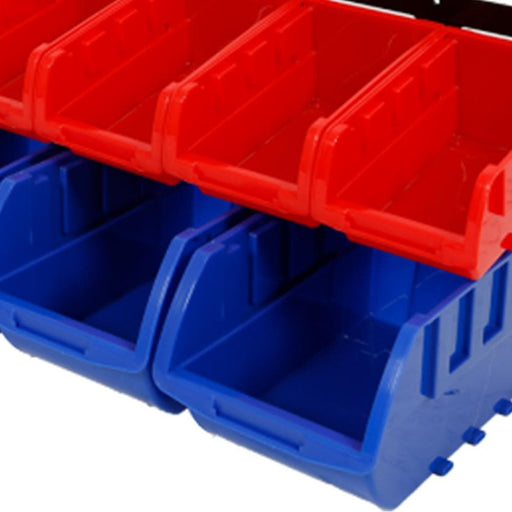 Red Label Economy Parts Storage Bin Rack, 10 Parts Bins