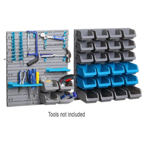 Red Label Economy Parts Storage Bin & Tool Rack, 44 Piece Set