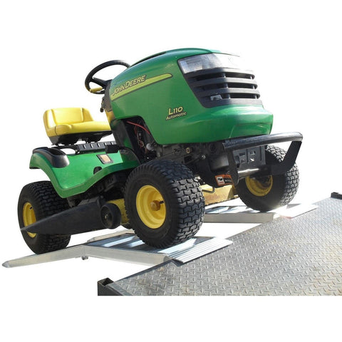 Sureweld 450kg Mower Series Curved Foldable Aluminium Loading Ramps, Pair - Sureweld - Ramp Champ