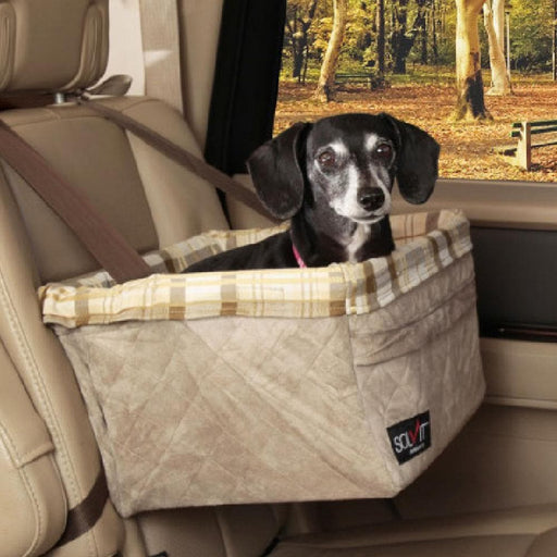 Solvit Deluxe Tagalong On-Seat Pet Booster, Large