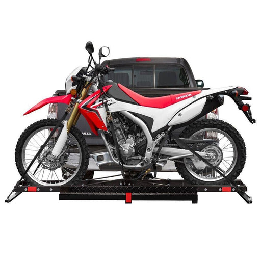 Steel Hitch Mount Motorcycle Carrier, 227kg Capacity - Ramp Champ - Ramp Champ