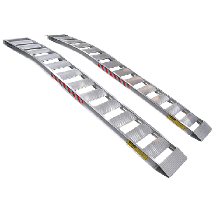 Sureweld 2.1m x 450kg Curved Foldable Aluminium Loading Ramps - Sureweld - Ramp Champ
