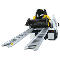 Image of Sureweld 1.5 Tonne 2.4m x 390mm Rubber Series Aluminium Machinery Loading Ramps, Pair