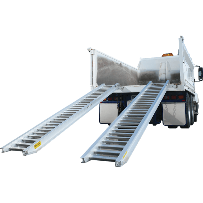 Sureweld 6 Tonne 3.6m x 610mm Rubber Series Aluminium Machinery Loading Ramps, Pair - Sureweld - Ramp Champ