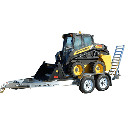 Sureweld 2.4-Tonne Aluminium Mini-Loader Plant Trailer - 2t Capacity - Sureweld - Ramp Champ