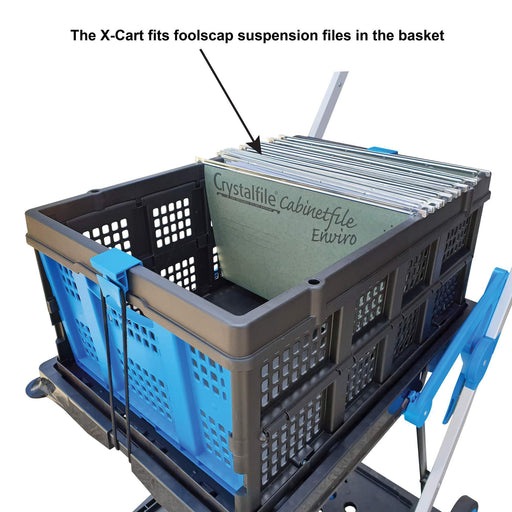 Troden Extra Basket to suit X-Cart Folding Office & Workplace Trolley