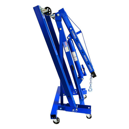 TradeQuip Dual Action Pump Foldable Engine Crane, 1.2 Tonne - TradeQuip - Ramp Champ