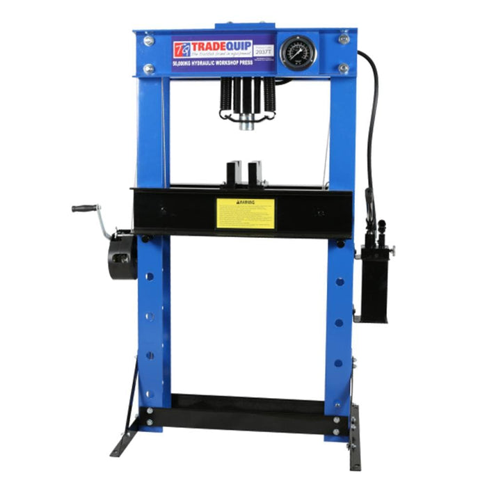 TradeQuip Professional 50 Tonne Hydraulic Press - TradeQuip - Ramp Champ