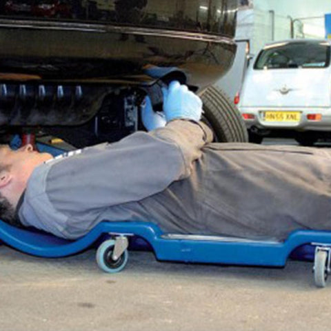 TradeQuip Professional Blue Mechanics Creeper with Head Rest