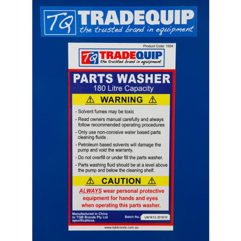TradeQuip Professional Parts Washer 180-Litre