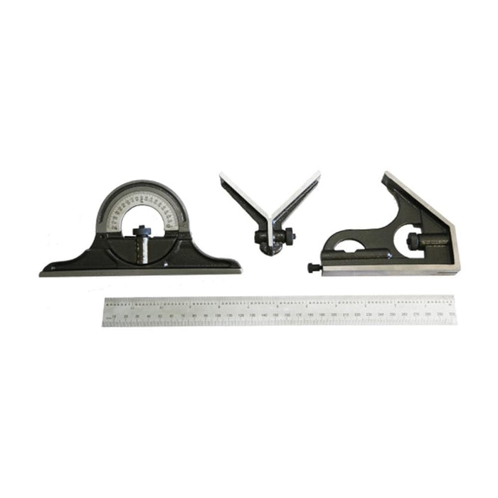 TradeQuip Professional Protractor Square Combination Set 4pce - TradeQuip - Ramp Champ