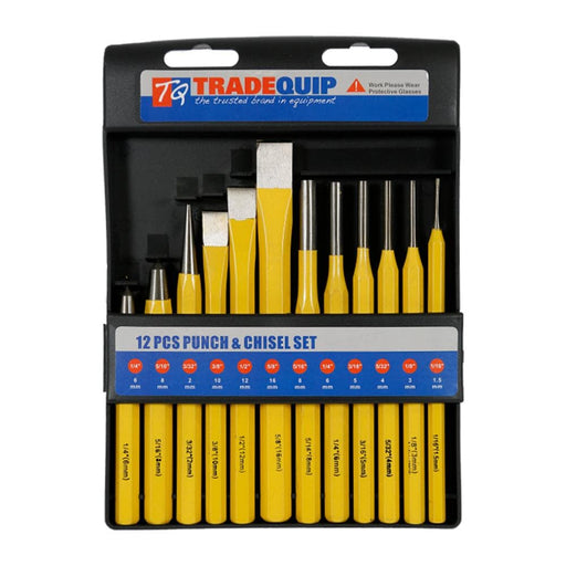 TradeQuip Professional Punch & Chisel Set 12pce