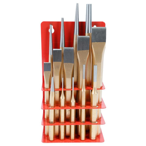 TradeQuip Professional Punch & Chisel Set, 14 Piece