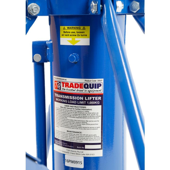 TradeQuip Professional Transmission Lifter Hydraulic, 1 Tonne - TradeQuip - Ramp Champ