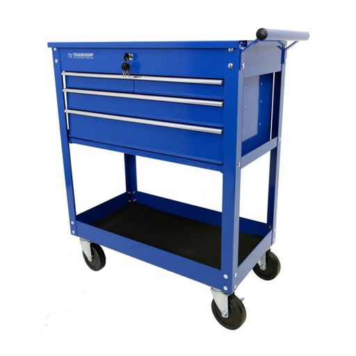 TradeQuip Professional Workshop Tool Trolley 4 Drawer Lockable Top
