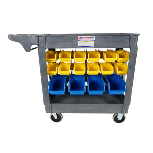 TradeQuip Workshop Trolley 30 Parts Bins