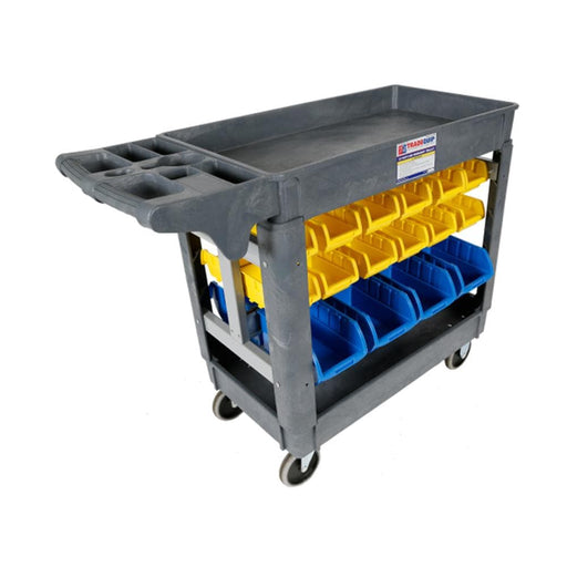 TradeQuip Workshop Trolley 30 Parts Bins - TradeQuip - Ramp Champ