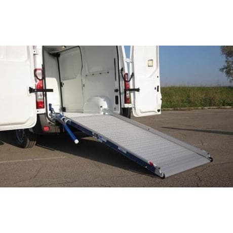 WM System Aluminium AL-Light-Plus Van Ramp with Swivel, 400kg Capacity