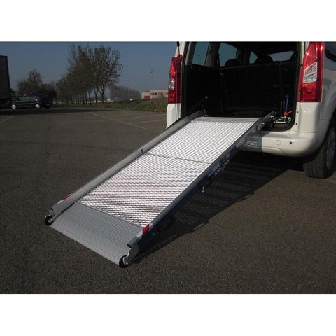 WM System Aluminium Mesh Van Ramp with Swivel, 300kg Capacity