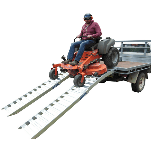 Whipps Heavy Duty Folding Aluminium Curved Mower Ramps - Whipps - Ramp Champ