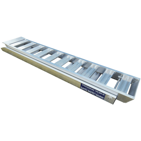 Whipps 2.5m x 450mm 1000kg Aluminium Folding Wide Loading Ramps, Pair - Whipps - Ramp Champ