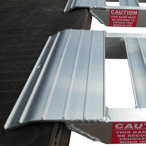 Whipps 2.5m x 340mm 1000kg Aluminium Folding Curved Loading Ramps, Pair - Whipps - Ramp Champ