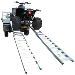 Whipps 2.5m 1000kg Aluminium Folding Straight or Curved Loading Ramps