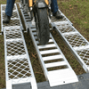 Image of Whipps 3m x 340mm 500kg Aluminium Folding Loading Ramp with 2 x Side Walk Ramps - Whipps - Ramp Champ