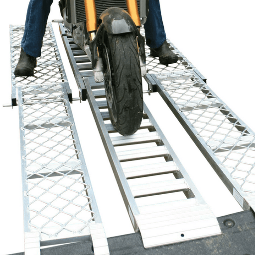 Whipps 500kg Aluminium Folding Motorcycle Ramp + Side-Walk Ramps - Whipps - Ramp Champ