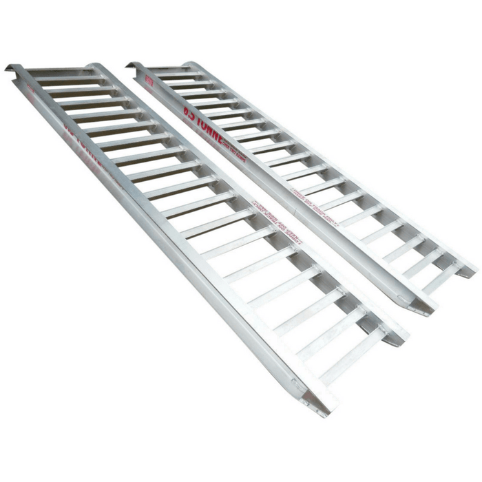 Whipps Construction & Machinery Whipps 6.5 Tonne 3.6 m x 630mm Aluminium Loading Ramps
