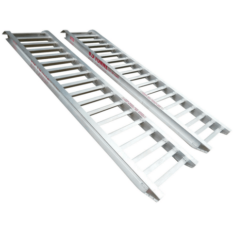Whipps 6 Tonne 3.6m x 580mm Aluminium Machinery Loading Ramps, Pair - Whipps - Ramp Champ