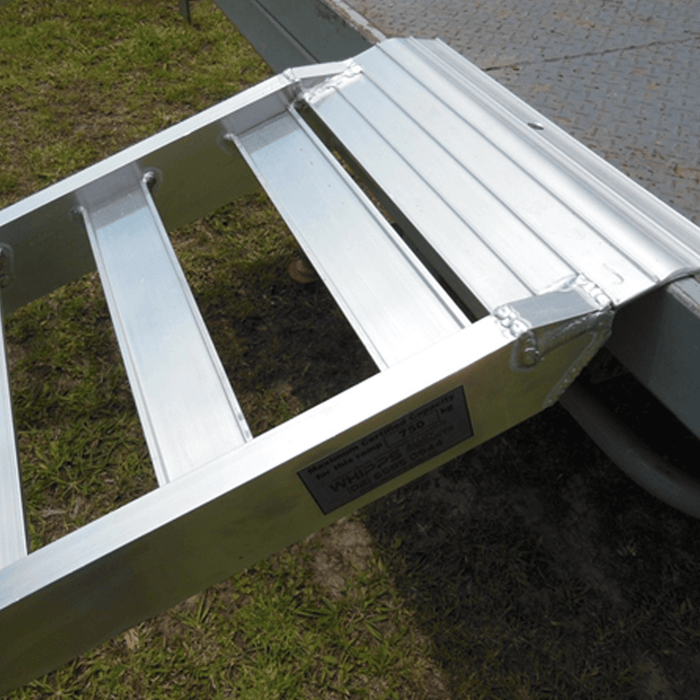 Whipps Construction & Machinery 2.0 m x 350mm Whipps 1.5-Tonne Non-Folding Aluminium Loading Ramps -2m