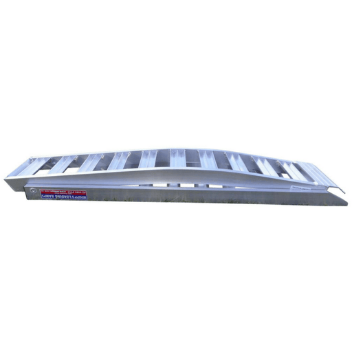 Whipps 3m x 340mm 800kg Aluminium Folding Curved Loading Ramps, Pair - Whipps - Ramp Champ