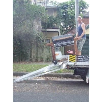 Tray Ramp Retractable Aluminium Ramp For Utes, 350kg Capacity