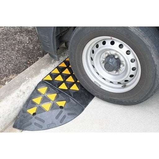Barrier Group High-Vis Rubber Kerb Ramp End Module - Barrier Group - Ramp Champ