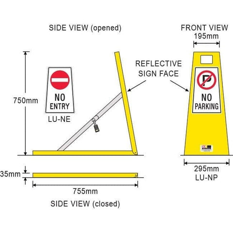 Barrier Group Parking Space Protector - No Parking No Entry - Barrier Group - Ramp Champ