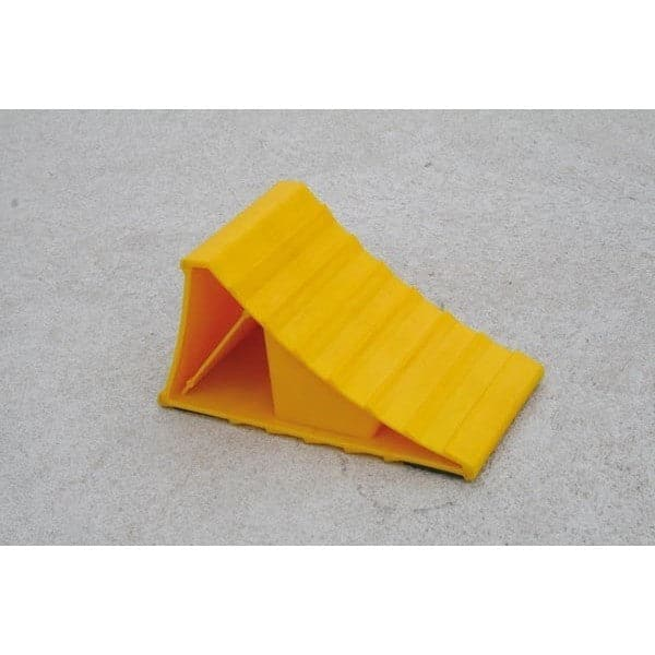 Barrier Group Yellow Plastic Wheel Chock - Barrier Group - Ramp Champ