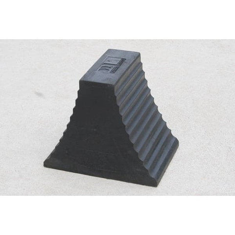 Barrier Group Recycled Rubber Wheel Chocks In Black - Barrier Group - Ramp Champ