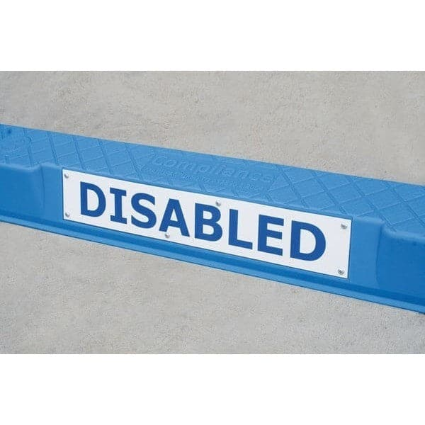 Barrier Group Wheel Stop Sign 75 x 450mm for Compliance Wheel Stop - Barrier Group - Ramp Champ