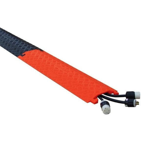 Checkers 1 Channel Large Drop Over - 200kg Capacity Cable Protector - orange