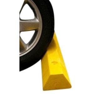 Checkers Recycled Plastic Yellow Parking Stop, 1.8m Long - Checkers - Ramp Champ