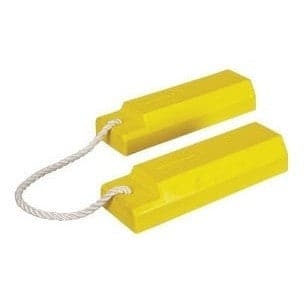 Checkers Aviation Wheel Chock 457mm Length - With Lanyard - Checkers - Ramp Champ