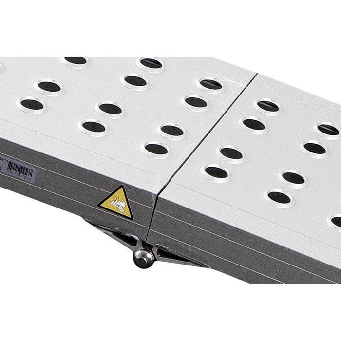 FEAL 1.5m x 400kg Heavy-Duty Folding Aluminium Loading Ramp, Single - Feal - Ramp Champ
