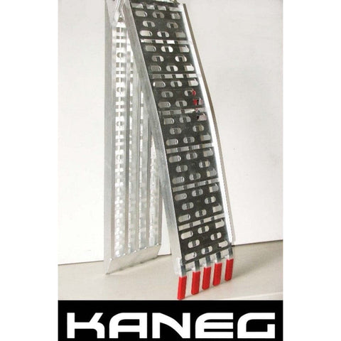 Kaneg 2.3m x 410kg Extra Wide Aluminium Folding Loading Ramps, Pair